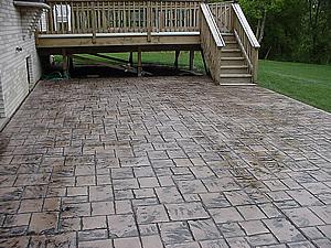 Stamped Concrete Springboro Ohio Centerville Pro Tech